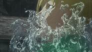 Serpico atacado por el kelpie (anime)
