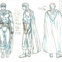 Full body concept sketches of Guts as the Black Swordsman for the Golden Age film trilogy.