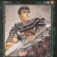 Guts looks up, having fired his cannon prosthetic arm. (Vol 3 - no. 18)