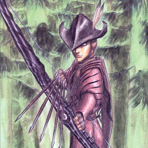 Irvine readies a volley of arrows.