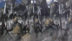 Kushan army