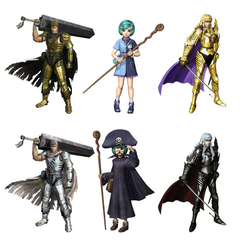 Guts, Schierke, and Griffith's DLC outfits