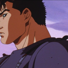 Guts thinking about his dream.