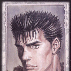 Guts looks ahead. (Secret card 12)
