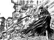 Esgrima de Serpico contra Guts (manga)