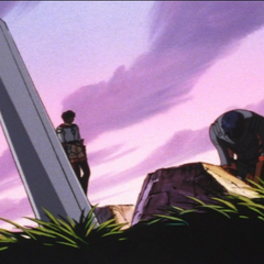 Casca overlooking the burial of deceased Falcons.