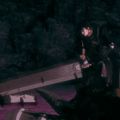 Guts decapitates the Great Goat.