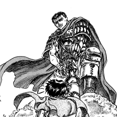 Guts narrowly prevents Casca's suicide.