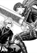Colaboración entre Miura y Yuji Kaku (entrevista Shōnen Jump)