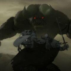 Zodd battles the Skull Knight.