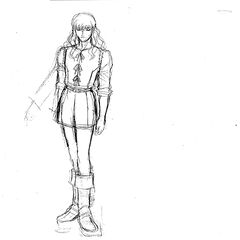 A full body sketch of Griffith for the <a href=