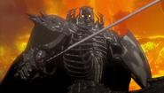 Skull Knight blandiendo su espada (anime 2016)
