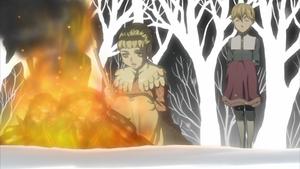 Farnese burns her bunny