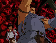 Pippin salva a Casca en el Eclipse (anime 1997)