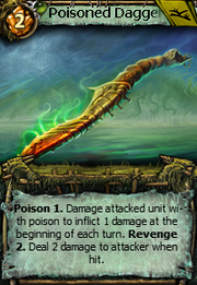 Poisoned dagger