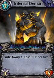 Canvas infernal demon