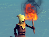 Peasant Flaming Torch