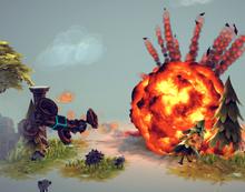 Landmine exploson