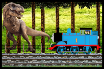 Thomas discovers a Tyrannosaurus by CJ-the-Creator