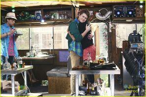 Barry and Marci hug