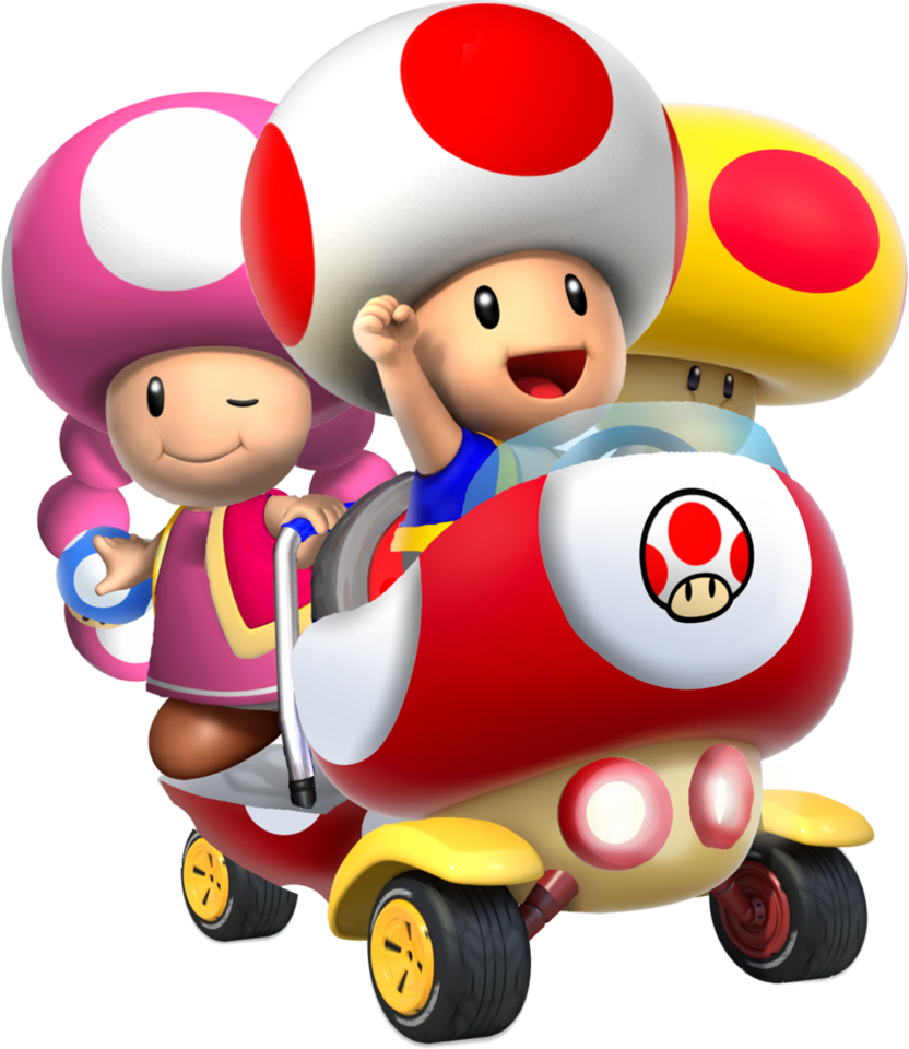 Image - Toad and toadette mk double blast by superkiryoshi ... - photo#9