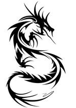 Tribal-dragon-tattoo-design