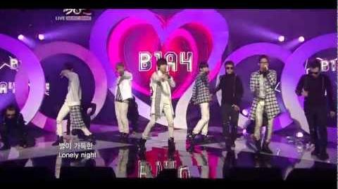 B1A4 ~ My Love Music Bank 11.18.11