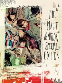 B1A4 album art for 1st repackage albumSPECIALEDITIONIGNITION