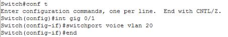 Switchport voice vlan