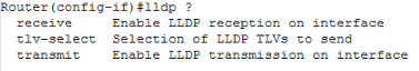Interface lldp
