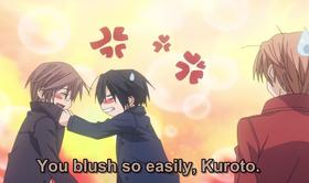 Kuroto embarrassed