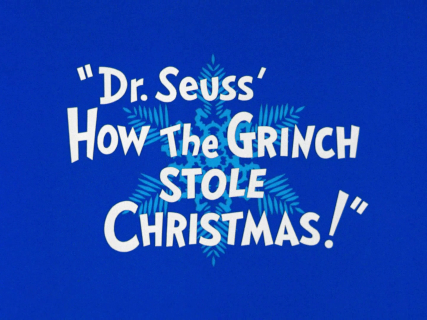 title grinch - When Does How The Grinch Stole Christmas Come On Tv