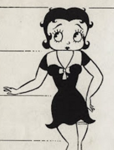 aae9db60 Model sheets from 1938 show that her garter is still visible but when she  appeared in the cartoons the garter had been moved and or hidden by her  dress.