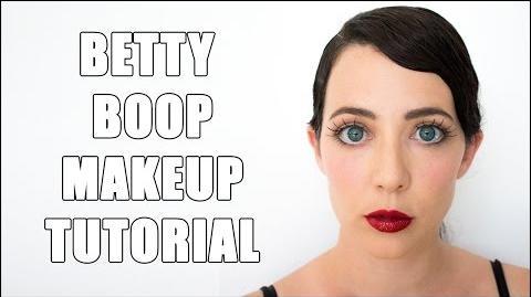 Betty Boop Easy Halloween Drugstore Makeup Tutorial