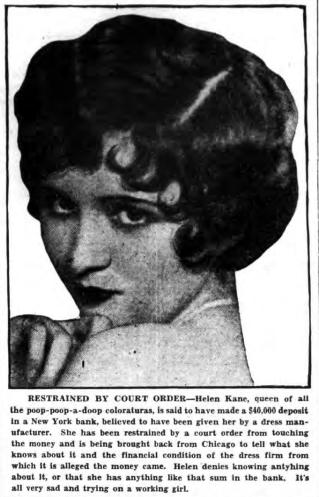 Poop Poop a Doop Kane Court Order 1930