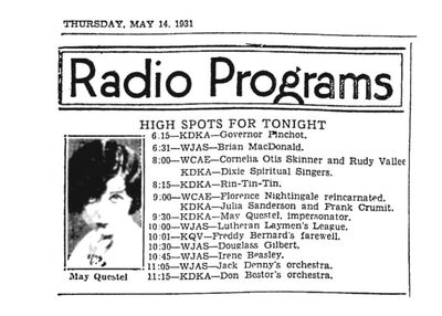 Mae Questel Radio Impersonator 1931