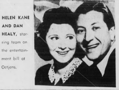 Dan Healy and Helen Kane