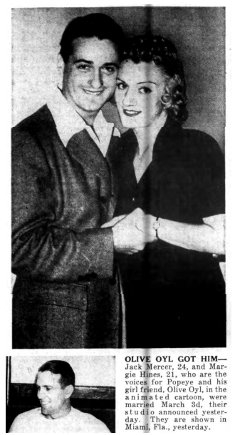 Jack Mercer and Margie Hines 1939