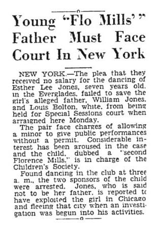 Baby Esther Jones Florence Mills Impersonator 1928