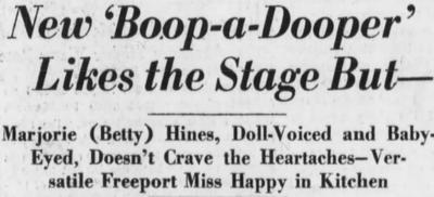 Margie Hines New boop a Dooper 1933
