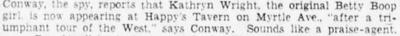 Kathryn Wright 1937 Betty Boop