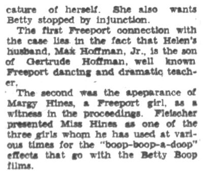 The Nassau Daily Review 1934 they can't spell lol margie hines betty boop helen kane