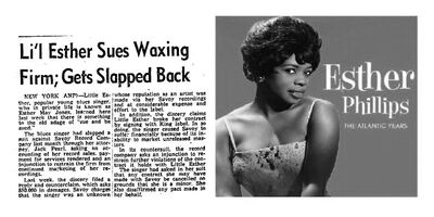 Esther Phillips 1951 Article also known as Little Lil Esther
