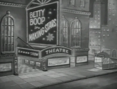 Betty Boop in Making Stars Theatre