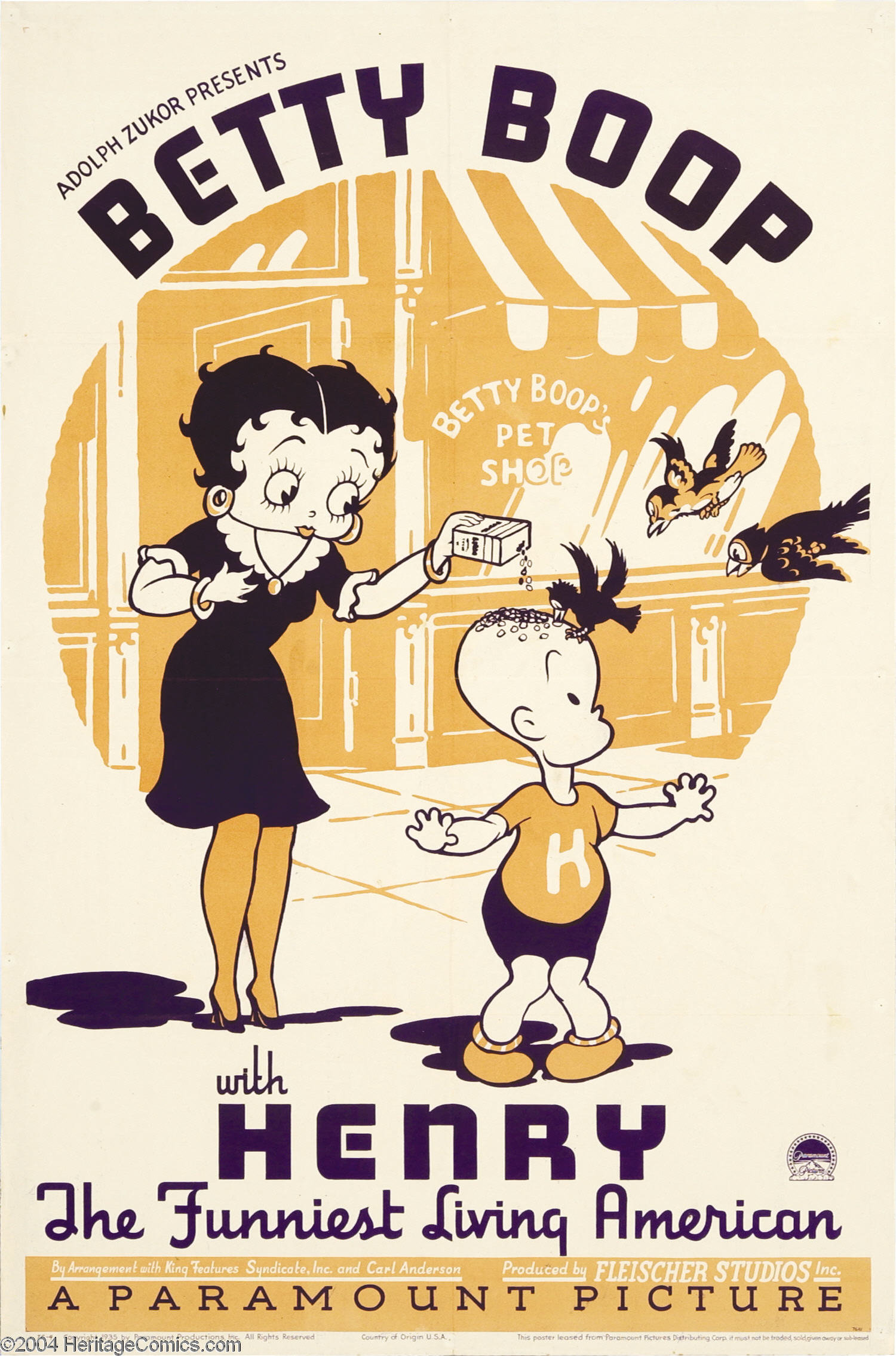 Image - Betty Boop with Henry Poster.png | BETTY BOOP Wiki | FANDOM ...
