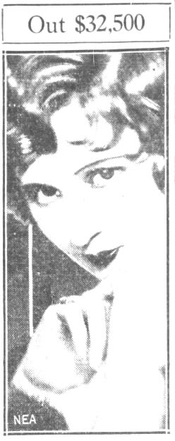 Helen Kane Ordered to Pay $32,500 (1933)