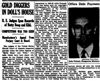 Gold Diggers In Doll's House - U.S Judges Scan Records of Betty Boop and Kiki (1938)