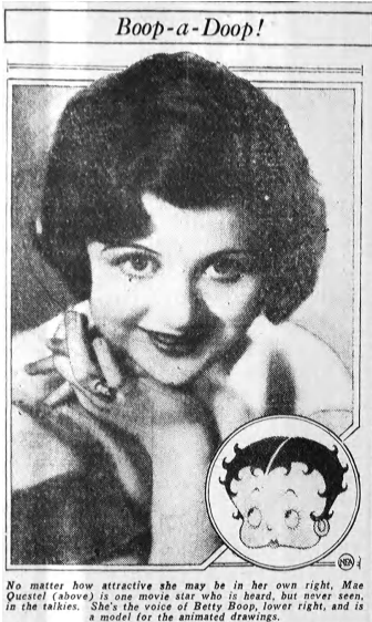 Boop-a-Doop 1932 Mae Questel