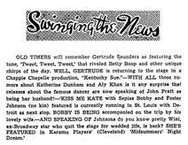 Gertrude Saunders Betty Boop 1950