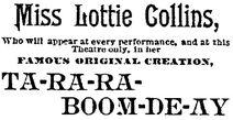 Ta Ra Ra Boom De Ay Original Creation By Lottie NOPE